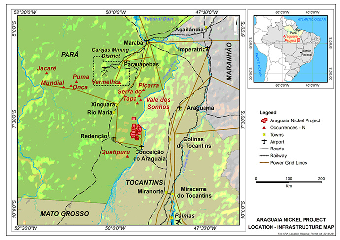 Araguaia Infrastructure Map