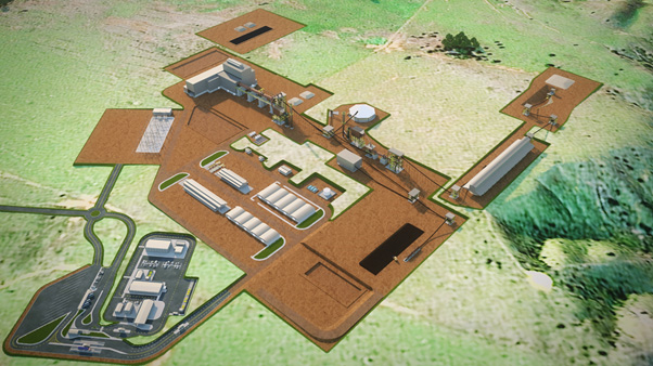 3D image of the proposed RKEF plant at the Araguaia Nickel Project